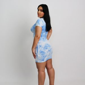 Tie Dye Vibes Dress – Blue
