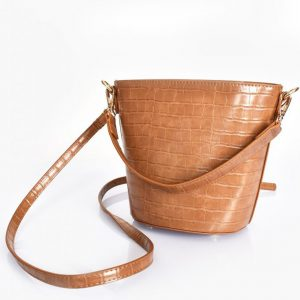 Mini Tan Croc Bag