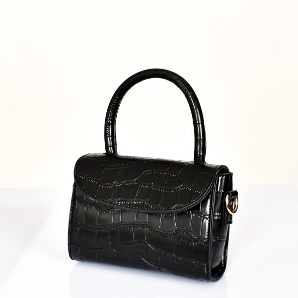 Small Black Croc Bag